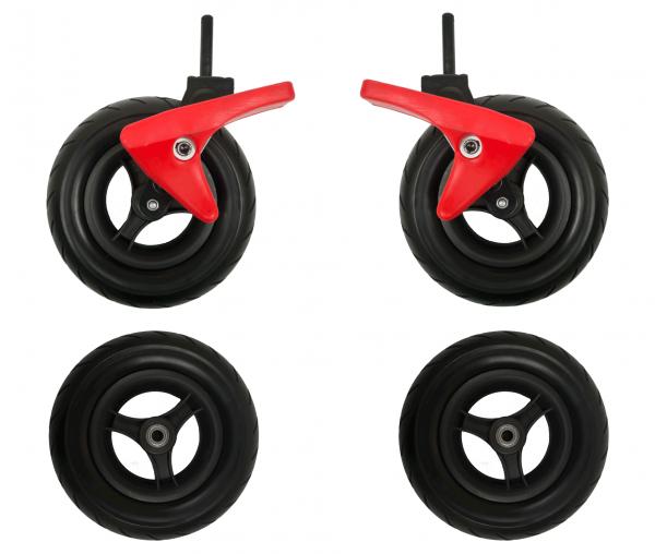 Leichtlauf-PU-Räder-Set für RABIMOBO Sun Bollerwagen
